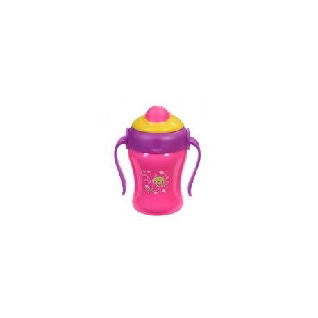 Hrnček ružový so slamkou Baby Ono 220ml