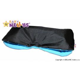 Rukávnik ku kočíka Baby Nellys ® flees - čierny / modrý