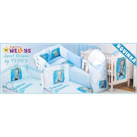 Drevená postieľka 2 v 1 Nellys Sweet Dreams by Teddy - modrá / biela