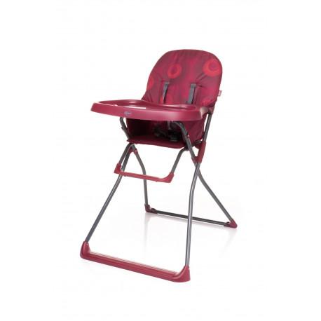 Jedálenská stolička FLOWER DARK RED