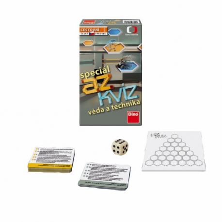 AZ kvíz Veda a technika spoločenská hra cestovné v krabici 11x18x3,5cm