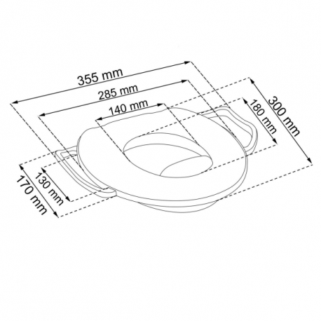 Adaptér - Mini tréningové sedátko na toaletu Medvedík Pú