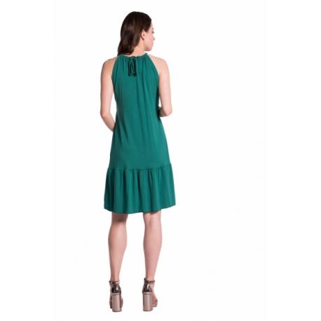 b39d938b32 Letné tehotenské šaty na ramienkach - hnědá