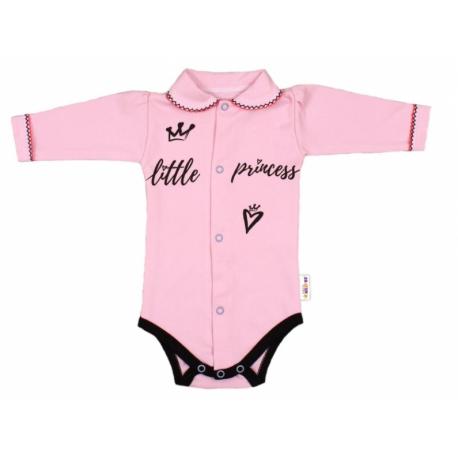 02f0636ea Body dlhý rukáv s golierikom, ružové Little Princess