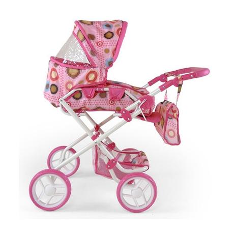 Kočík pre bábiky Milly Mally Paulínka - bieloružový / hnedý