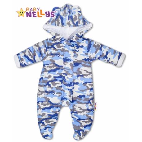 Kombinézka s kapucňu a uškami ARMY Baby Nellys ®