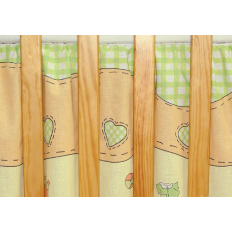 Krásny volánik pod matrac - Bocian zelený