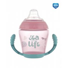 Nevylévací hrnček Sea Life - ružový