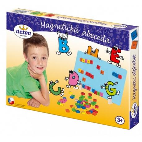 Magnetická abeceda drevo 75ks v krabici 33x23x3,5cm