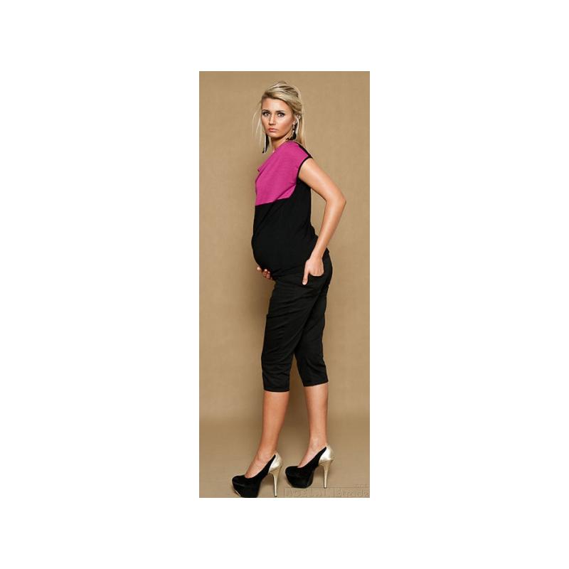 ae98db4f2422 Tehotenské nohavice ANNA 3 4 - čierne