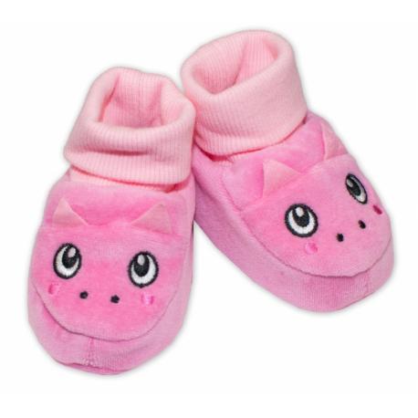 Topánočky / capáčky YO! Dráčik - ružové, veľ. 6 -12 m