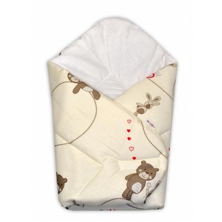 Novorodenecká zavinovačka Míša Baby Nellys - béžový