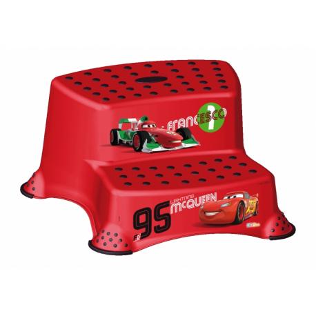 Stolička - schodíky s protišmykovou funkciou - Cars - červená