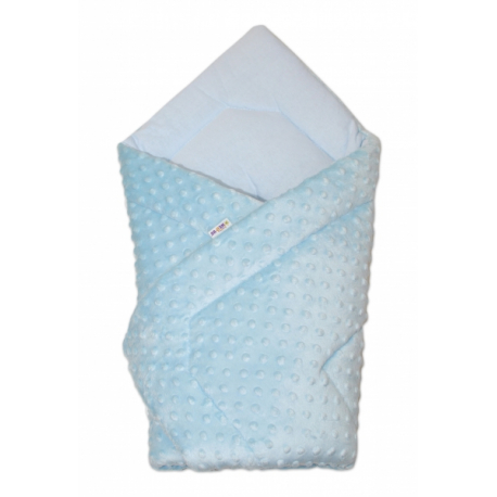 Luxusná zavinovačka Minky Baby - sv. modrá