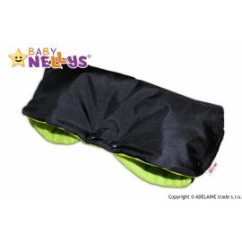 Rukávnik ku kočíka Baby Nellys ® flees - čierny / zelená