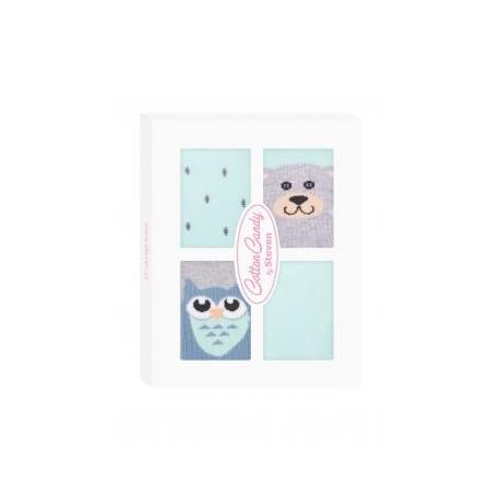 Dojčenské ponožky CANDY BOX - Sovička a medvedík - zelené