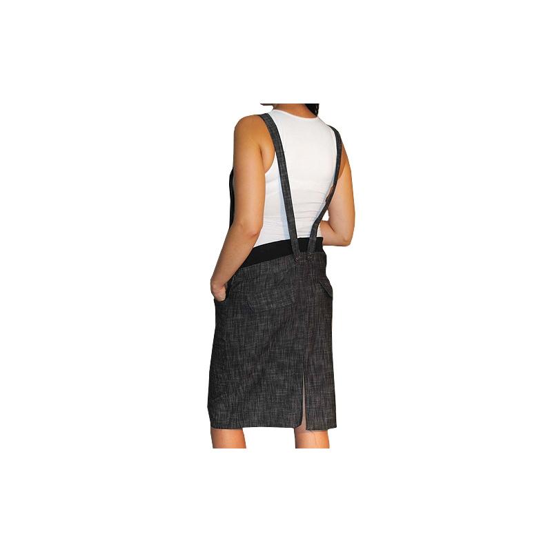 e20c6a4b9b84 Tehotenské šaty   sukne s trakmi - čierny melírek