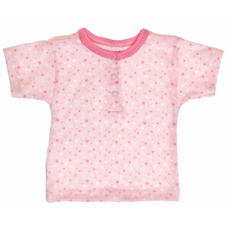 Bavlnené Polo tričko s krátkym rukávom veľ. 74 Hviezdičky - ružové