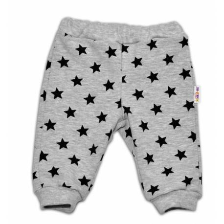 c7cd9e492 Bavlnená tepláková súprava Baby Nellys ® - Hviezdy čierne/sivá