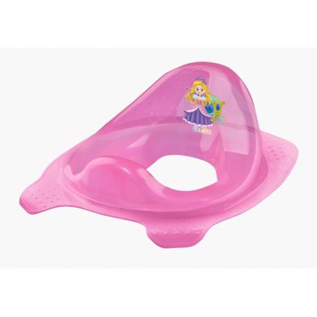 Adaptér - tréningové sedádko na toaletu Little Princess - ružové