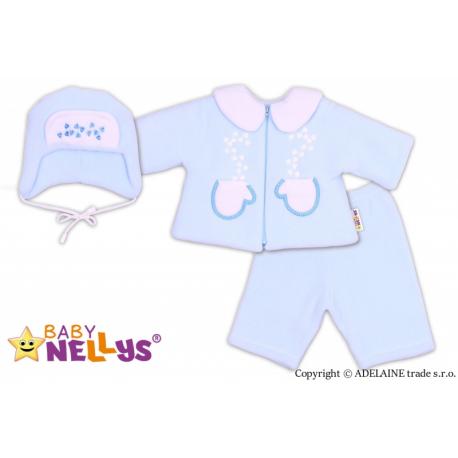 Kabátik, čiapočka a nohavice Baby Nellys ®- sv. modrá