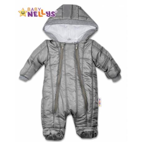 4df019749 Kombinézka s kapucňu Lux Baby Nellys ®prošívaná - sivý, vel. 68