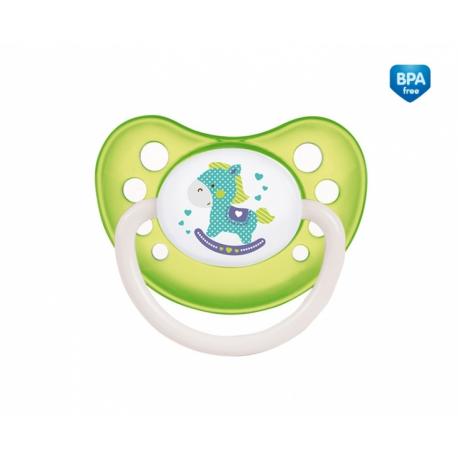 Cumlík anatomický Canpol Babies 18m+ C, TOYS - koníček zelený