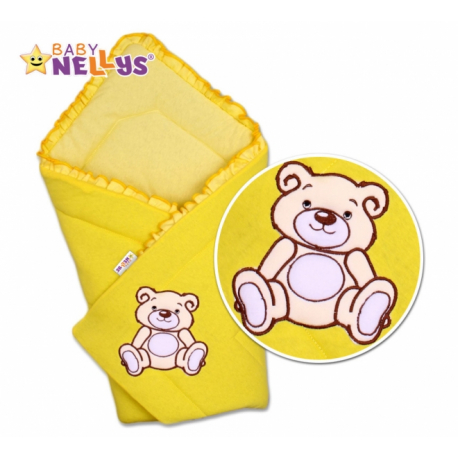 Zavinovačka Teddy Bear - velúr - žltá