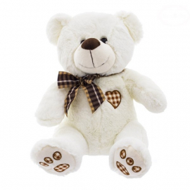 Plyšový medvedík 43cm - bielo/smotanový