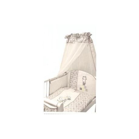 Bavlnené obliečky Medvedík kostička - šedá