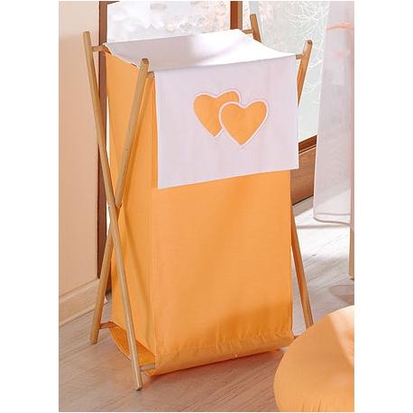 Luxusný praktický kôš na bielizeň - Srdiečko pomaranč
