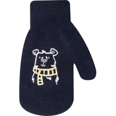 Dojčenské chlapčenské akrylové rukavičky YO - granátové