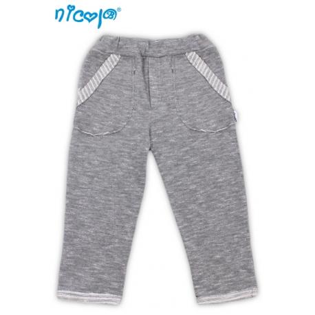 Tepláčky/kalhoty Football - šedé, vel. 92