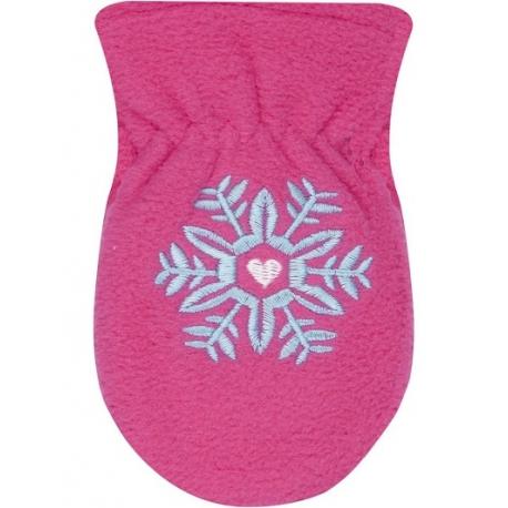 Zimné dojčenské polarové rukavice YO - malinové, veľ. 13-14 cm