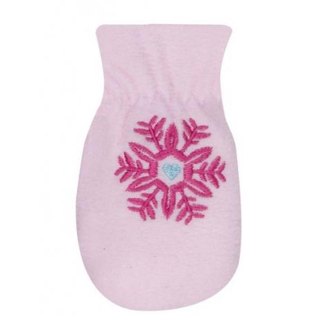Zimné dojčenské polarové rukavice YO - sv. ružové, veľ. 13-14 cm