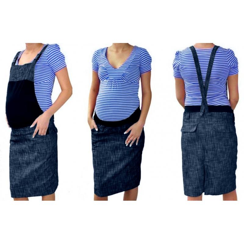 948c1df1e813 Tehotenské šaty   sukne s trakmi - granátový melírek
