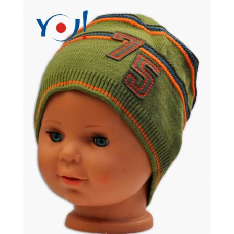 Jesenná čiapočka YO! č. 75 - khaki