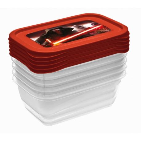 Súprava plastových škatuliek Star Wars 0,5l - 5 ks