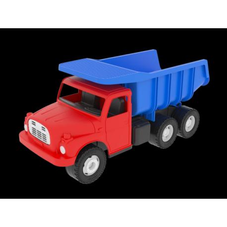 Auto Tatra 148 plast 30cm červenomodrá sklápač v krabici