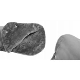 Rukávnik ku kočíku fleece - sivá