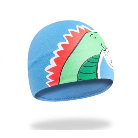 Bavlnená čiapočka YO! Hi Dino - modrá
