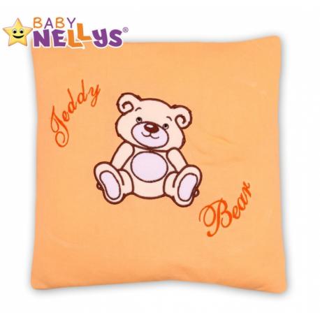 Vankúšik 40x40 Teddy Bear - broskyňový