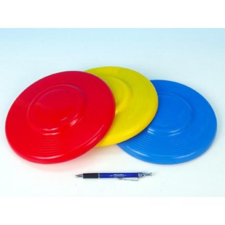 Lietajúci tanier plast priemer 23cm asst 3 farby 12m +