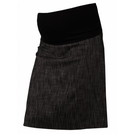 4fbdafbe13b3 Elegantná tehotenská sukňa DENIM - čierna