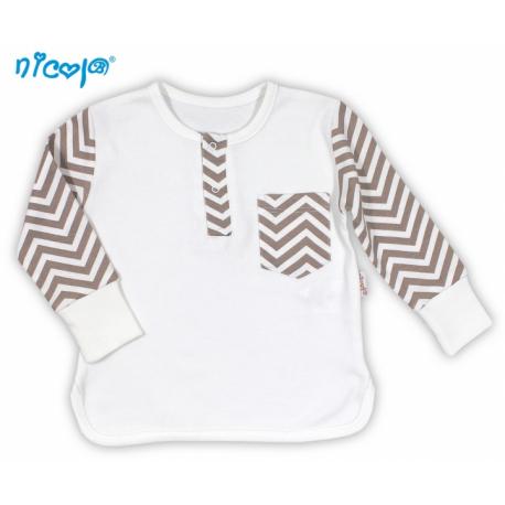 BIO dojčenské bavlnené tričko NICOL MACKO - dlhý rukáv