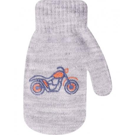 Dojčenské chlapčenské akrylové rukavičky YO - sivé