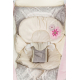 Dojčenské lehátko, kolíska s vibráciou - kvetinka ružová