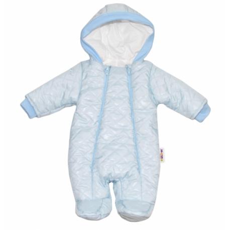 Kombinézka s kapucňu Lux Baby Nellys ®prošívaná - sv. modrá