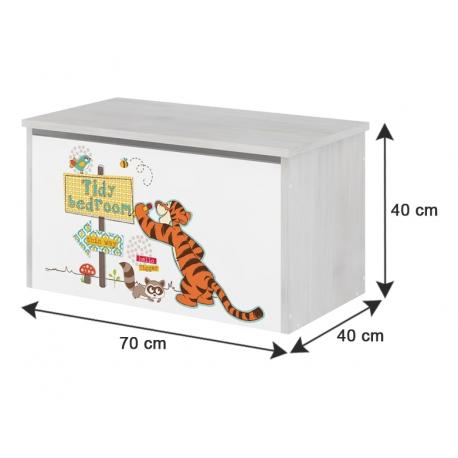 Box na hračky, truhla Disney - Medvedík PÚ a prasiatko