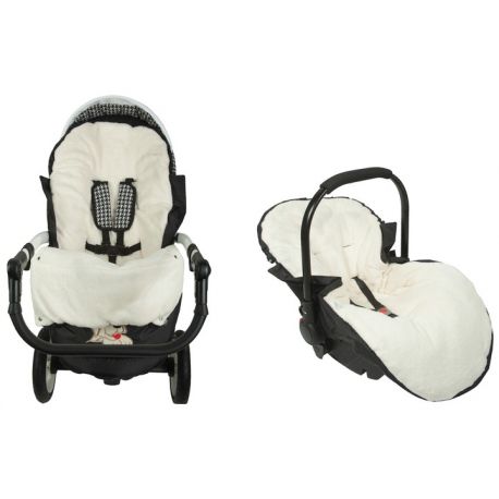 Fusak Deluxe Baby Nellys ® s kožušinou 105x50cm - hnedý